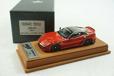 1/43 BBR FERRARI 599XX 2010 RED ON BROWN DELUXE LEATHER LE 10 PCS MR # 01/10