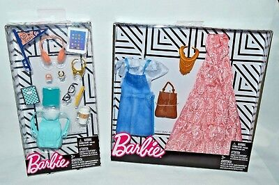 NEW-2018 BARBIE BOHO/DENIM FASHION 2 PACK + BACK TO SCHOOL ACCESSORY PACK-TABLET