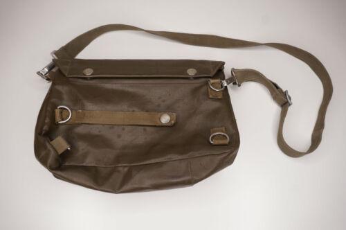 "Vintage Fishing Creel Bag Green 11"" X 8"" Pockets D-Rings"