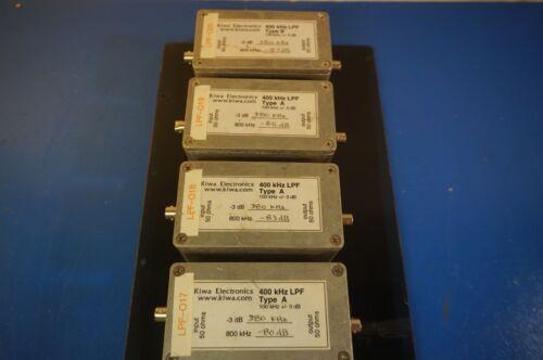Lot of 4, Kiwa 400 KHZ. LPF low pass filters