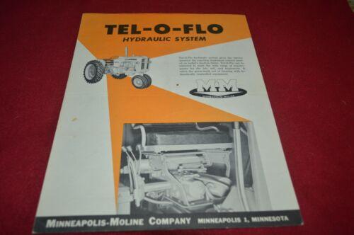 Minneapolis Moline Tel-O-Flo Hydraulic System Dealer