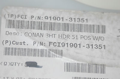 Fci 91901-31351 51-pin Header 1mm Vertical Smd Quantity-3