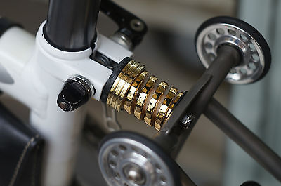GOLD COLOR SUSPENSION BLOCK FOR BROMPTON BICYCLE BIKE