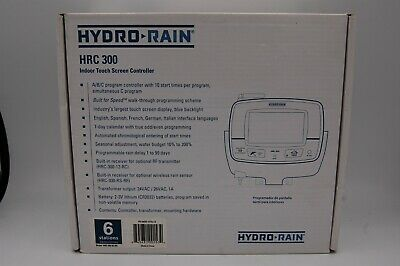 Hydro-Rain HRC-300 6 Station Touch Screen Sprinkler Controller