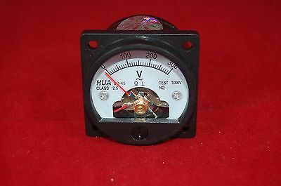 1pc Ac 0-300v Round Analog Ammeter Panel Amp Current Meter So45 Directly Connect