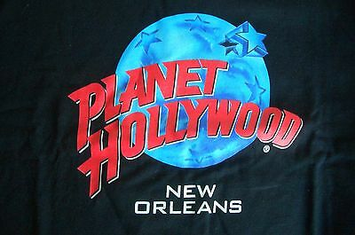 Planet Hollywood New Orleans Black Tee Size L NWT Neu