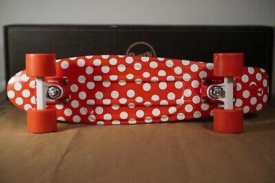 Penny board Australia 22' Authentic Red White Polka Dot Skateboard