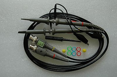 2x 100MHz Oscilloscope Scope analyzer Clip Probe test leads kit for HP Tektronix