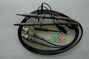 2x 100MHz Oscilloscope Scope analyzer Clip Probe test leads kit for HP Tektronix