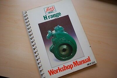 Lister Petter H Range Diesel Engine Repair Shop Serivce Manual Book Overhaul