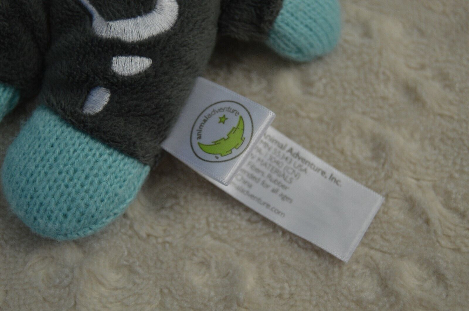 Animal Adventure Sock Monkey Plush Stuffed Animal Blue Gray Skeleton X-Ray Knit - $17.95
