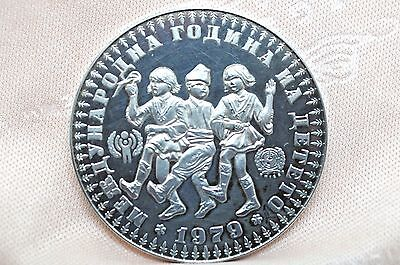 1979 Bulgaria YEAR OF THE CHILD 10 Leva Sterling silver coin