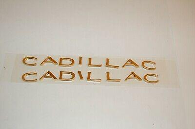 2 1999 2000 Cadillac Escalade Driver & Passenger Front Door CADILLAC Emblem PAIR