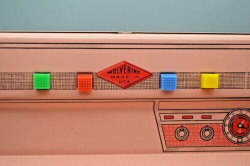 Vintage 1950s Pink Wolverine Metal Toy Kitchen  Set Sink , Stove, Refrigerator