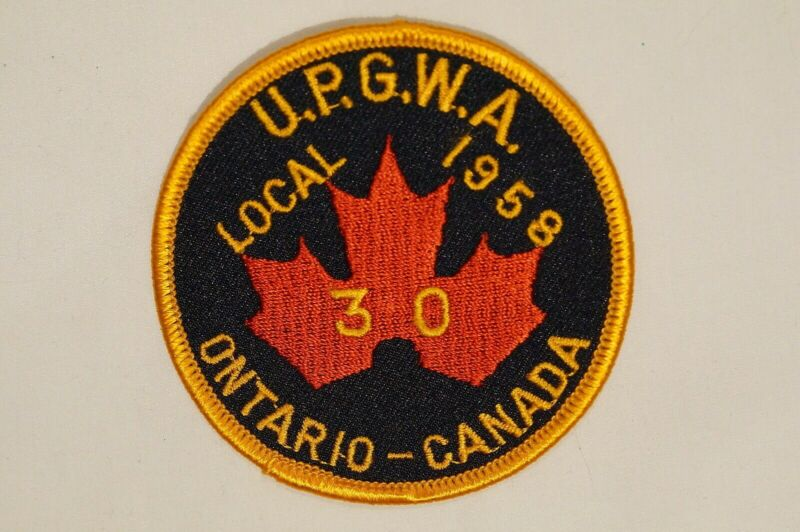 Canadian Ontario UPGWA/SPFPA Police Fire Security Local 1958 30 Patch 1