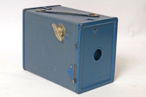 F90330~ AGFA ANSCO No. 2 MODEL D BOX CAMERA – Blue Version Uses 120 Film