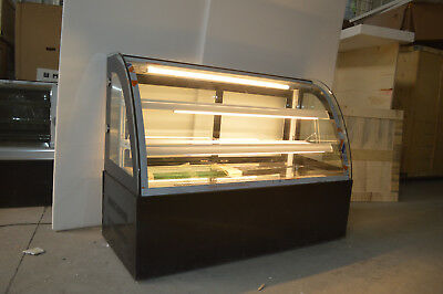 47countertop Bekery Cabinet Display Case Glass Refrigerated Cake Showcase 220v