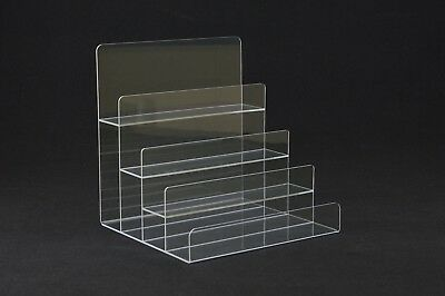 Large Modern Acrylic 4 Tier Display Plinth Riser Stand - PDS9022G Clear