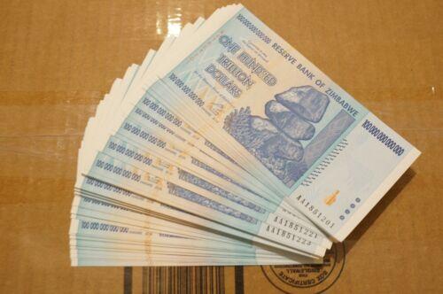 1 x 100 Trillion zimbabwe UNCirculated 2008 series AA - /100 Trillion series