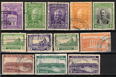 DOMINICAN REPUBLIC Scott 266//303 Used O11-3 MH MNG Used ## 1 cent start ##