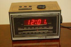 General Electric 7-4620A Vintage Digital Alarm Clock Radio, Tested & Working