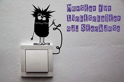 Wandtattoo Monster Lichtschalter Steckdose Strom Aufkleber Dekoration - Monster Licht