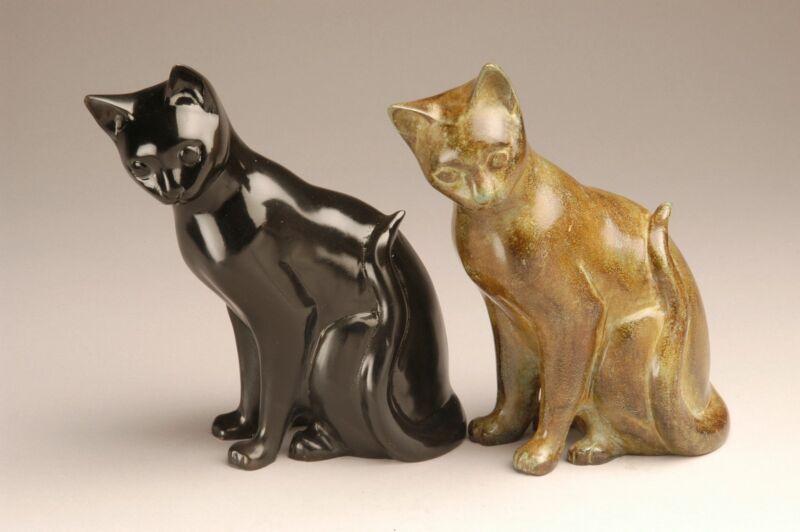 Cat Brass Cremation Urns
