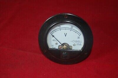 Dc 0-30v Round Analog Voltmeter Voltage Panel Meter Dia. 90mm Directly Connect
