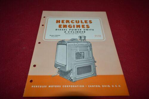 Hercules DOOD 4 Cylinder Diesel Power Unit Dealer