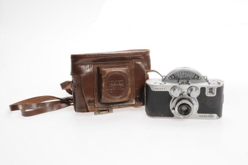 Univex Mercury Model CC Half Frame Camera w/35mm f3.5 Tricor Lens #564