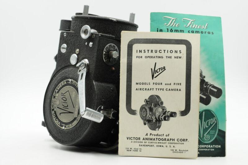 Victor Cine Camera Model 4 16mm w/Books #769