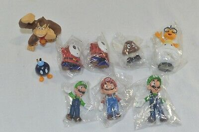 9pcs Nintendo Super Mario Bros Figures Toy Figurine Display Cake Topper Gift - Mario Cake Topper