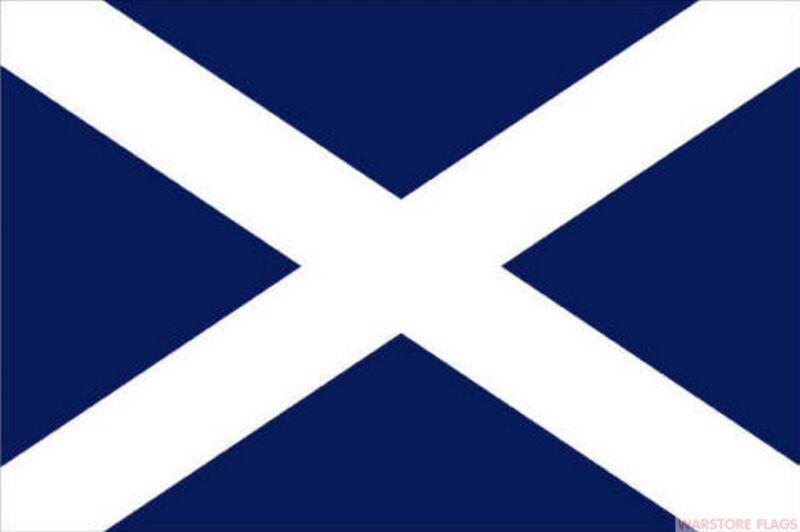 "ST ANDREW SCOTLAND NAVY BLUE mini flag 9"" x 6"" 22cm x 15cm flags"