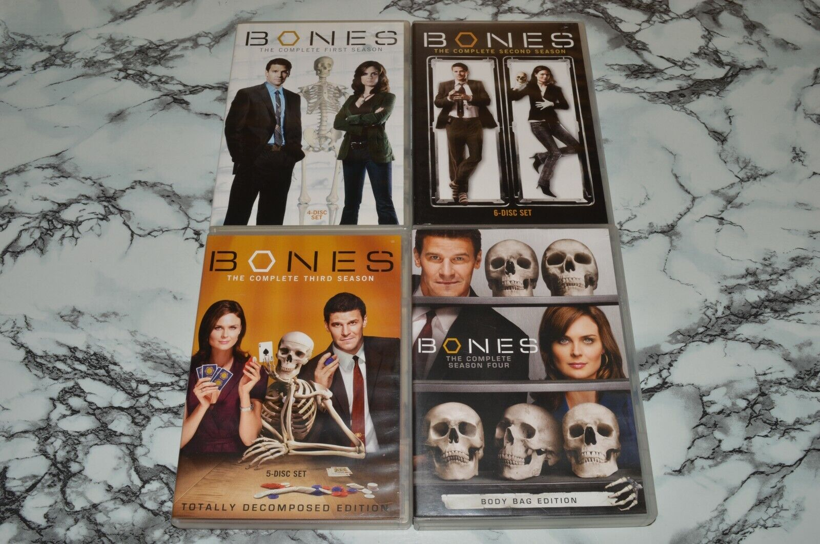 BONES DVD LOT -- The Complete Seasons 1 One 2 Two 3 Three 4 Four  - $12.68