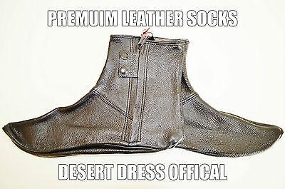 Leather Socks Khuffs Footwear Shoes Feet Khuffain Men Muslim Islam Desert Dress ()