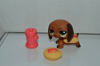 Littlest Pet Shop~#992~Dachshund~Puppy Dog~Green Eyes~Hotdog Costume & More - Lps Costumes