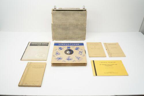 Vintage Linguaphone Spanish Course - 33rpm Records in Original Case w/ Booklets