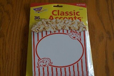 Trend 10073 Popcorn Buckets Cut Outs Movie Theme Classroom Decorations - Classroom Theme Decorations
