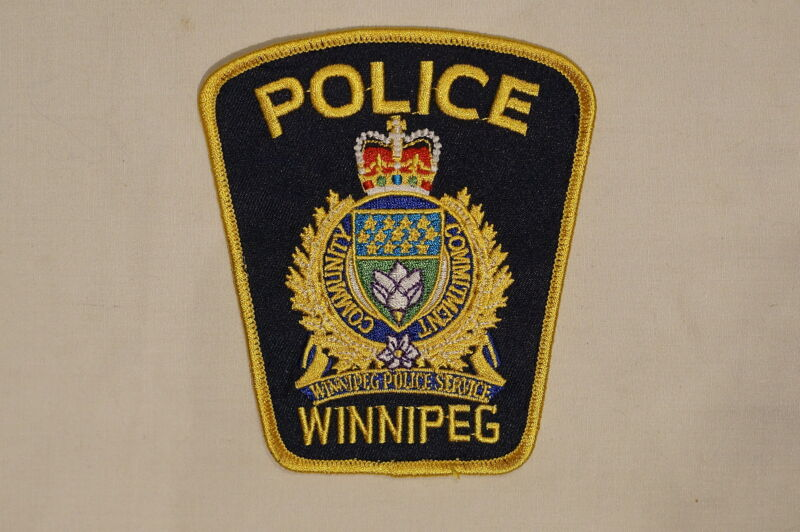 Canadian Manitoba Winnipeg Police Service Navy Blue Patch 1