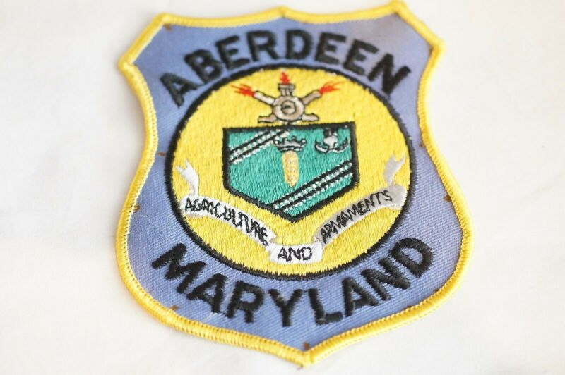 US Aberdeen Maryland Police Patch