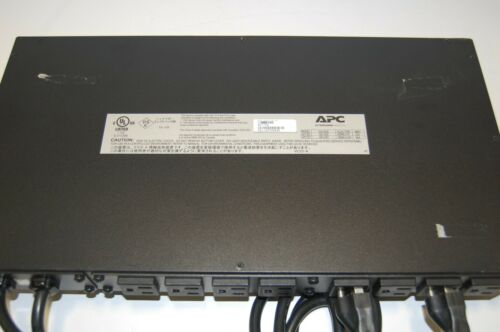 * APC AP7750 Automatic Transfer Switch 10-Outlet 120V 12A 50/60Hz