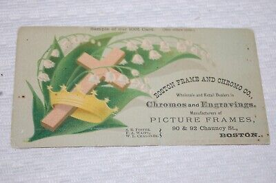 VINTAGE TRADE CARD BOSTON FRAME & CHRONO CO., BOSTON, MASS