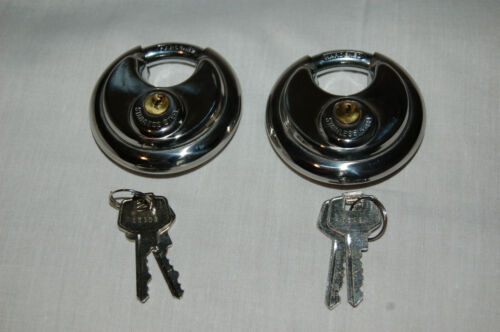 Lot of 2 PACLOCK 1000PRO-70 Disc Padlock 6 pin High Security 1000 PRO 70mm lock