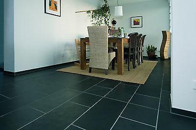 Schiefer Absolut Negra schwarz Bodenplatten Schieferfliesen  ()