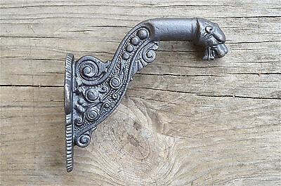 Regency lions head cast iron coathook wall door hanger coat hook ALR32