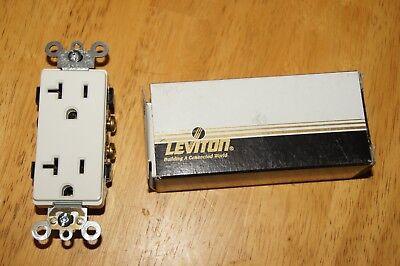 Leviton 16342-W 2P 3W Decora Plus Duplex Receptacle Self-Ground 20A 125V - White