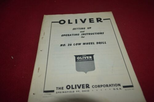 Oliver Tractor 26 Low Wheel Drill Operator