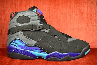 NEW Nike Air Jordan Retro 8 VIII Aqua 305381-025 Size 10.5 Black Blue Purple - Aqua Blue Jordans
