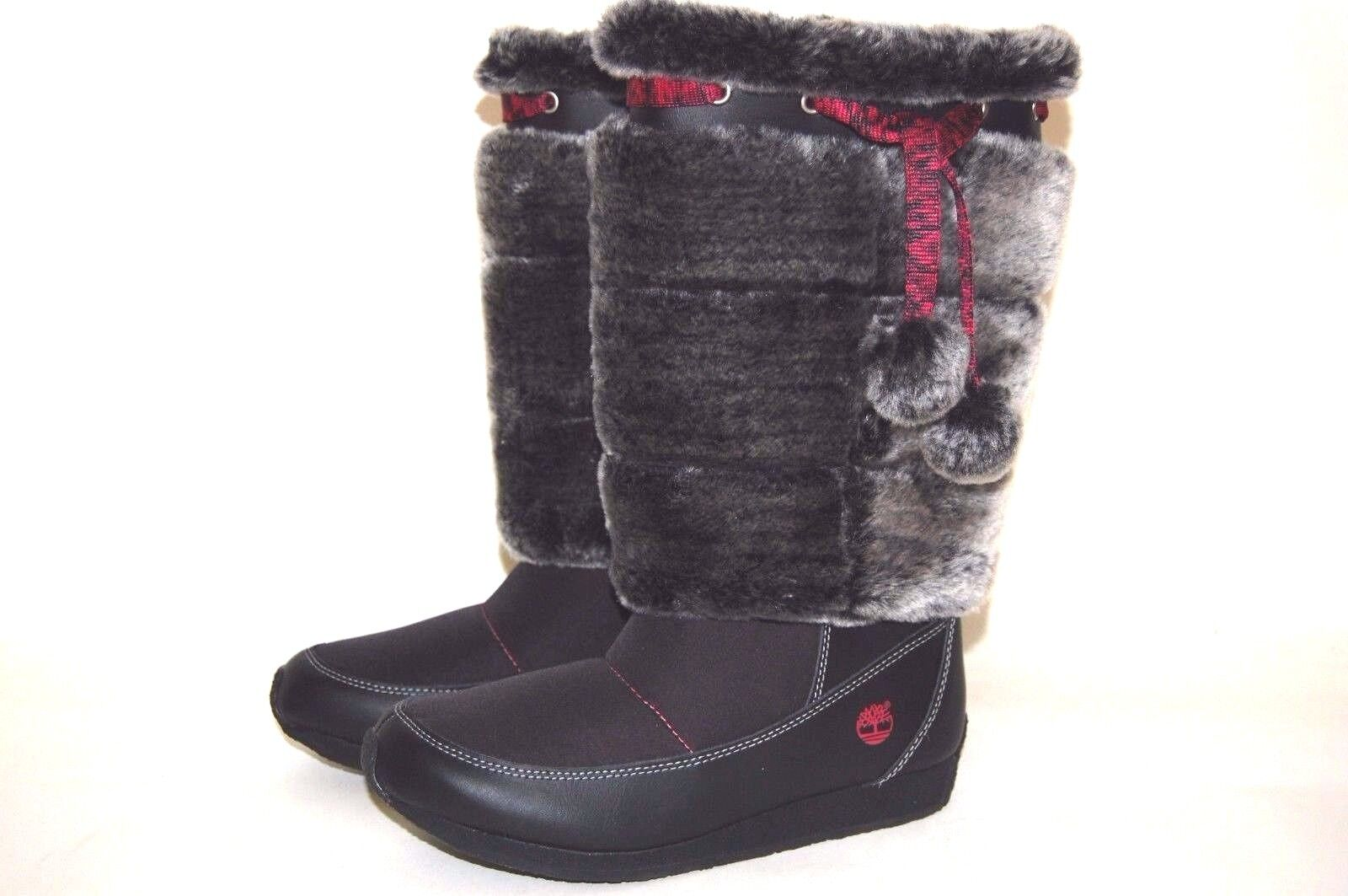 Timberland Junior Winter Berry Tall Boots 59994 Black Big Ki