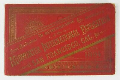 Antique View San Francisco Midwinter International Exposition Souvenir Book 1894